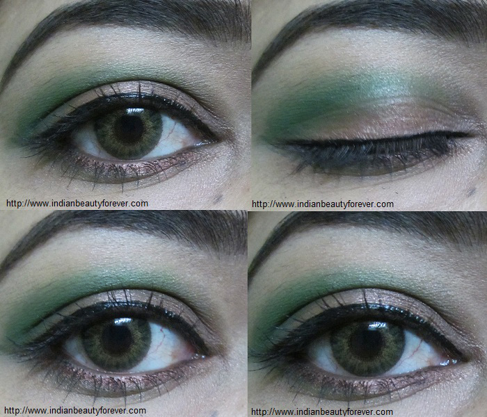 step by step makeup tutorial green