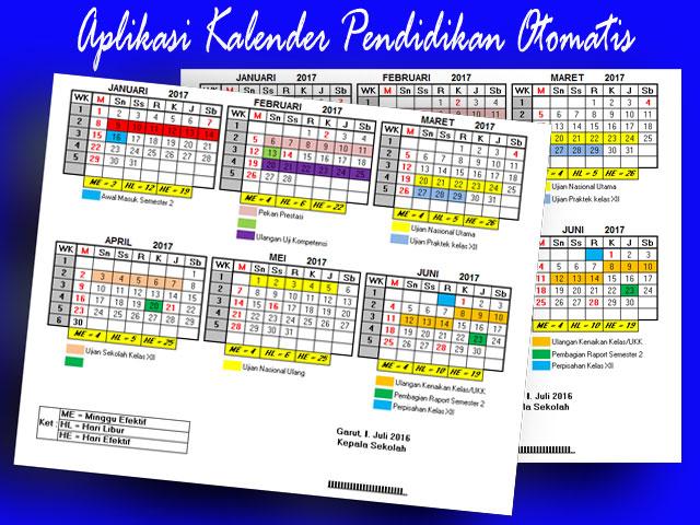 Download Aplikasi Kalender Pendidikan Otomatis ( KPO ) Model Baru