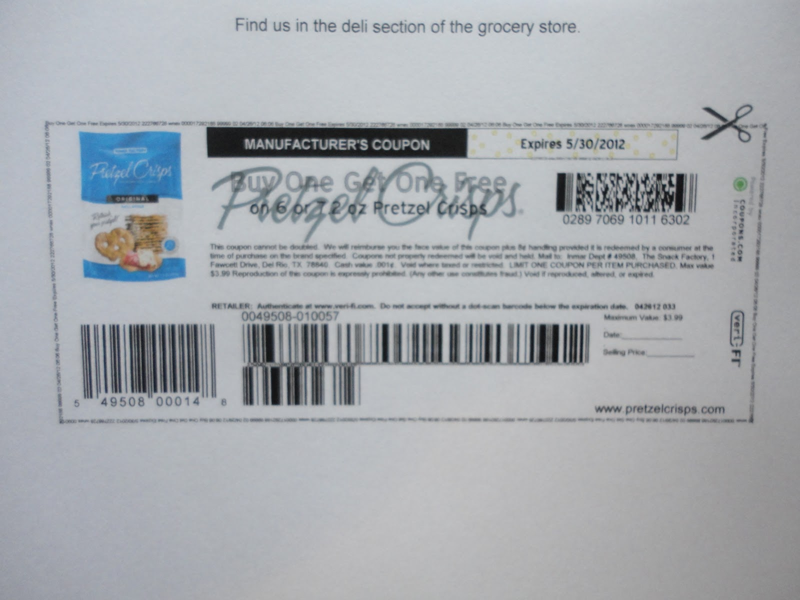 graphic about Philly Pretzel Factory Coupons Printable identify Snack manufacturing unit pretzel crisps printable coupon - Brunos