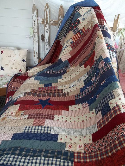 Patriotic Quilt designed By CourtneyMcNamara of Make All Things New