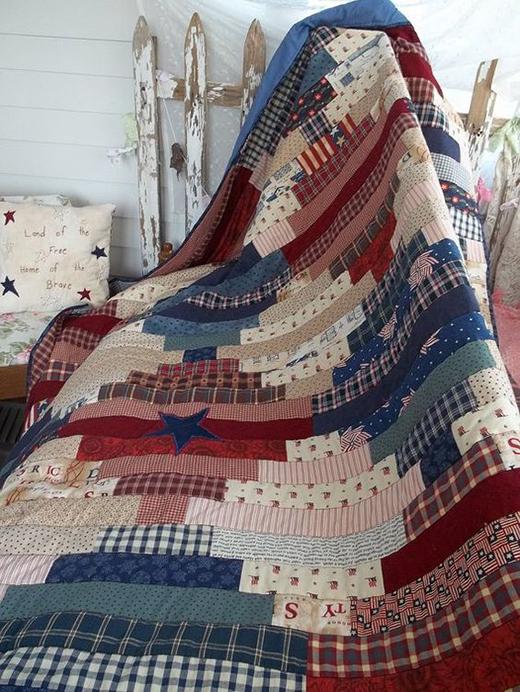 Patriotic Quilt Free Pattern