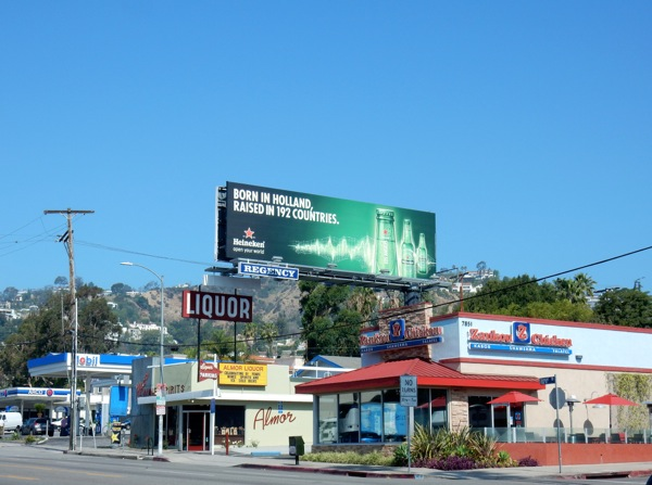 Born Holland raised in 192 countries Heineken billboard