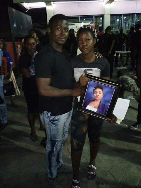 Wake keeping held for 25-year-old lady shot dead by armed robbers in Lagos (photos)