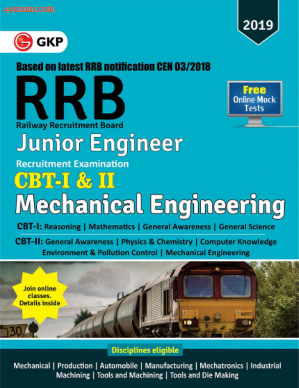 Railway JE (Mechanical Engineering) CBT-I & II : For Railway Exam PDF Book