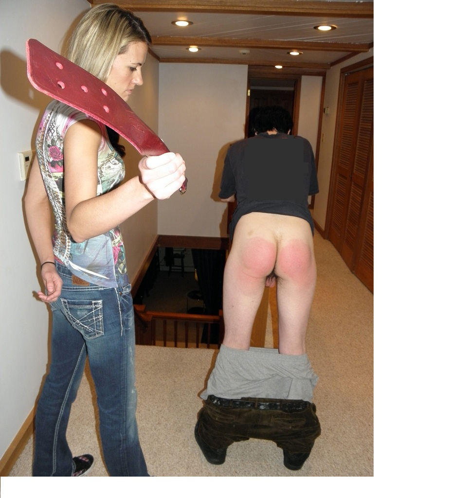 Thought differently, two hot woman spank man can