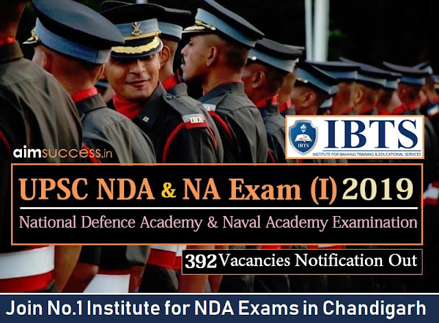 UPSC NDA I 2019: 392 Vacancies (Apply Online)