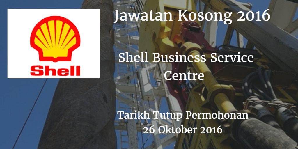 Jawatan Kosong Shell Business Service Center 26 Oktober 2016