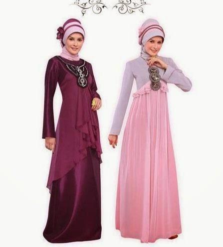 Contoh model baju muslim untuk pesta sederhana
