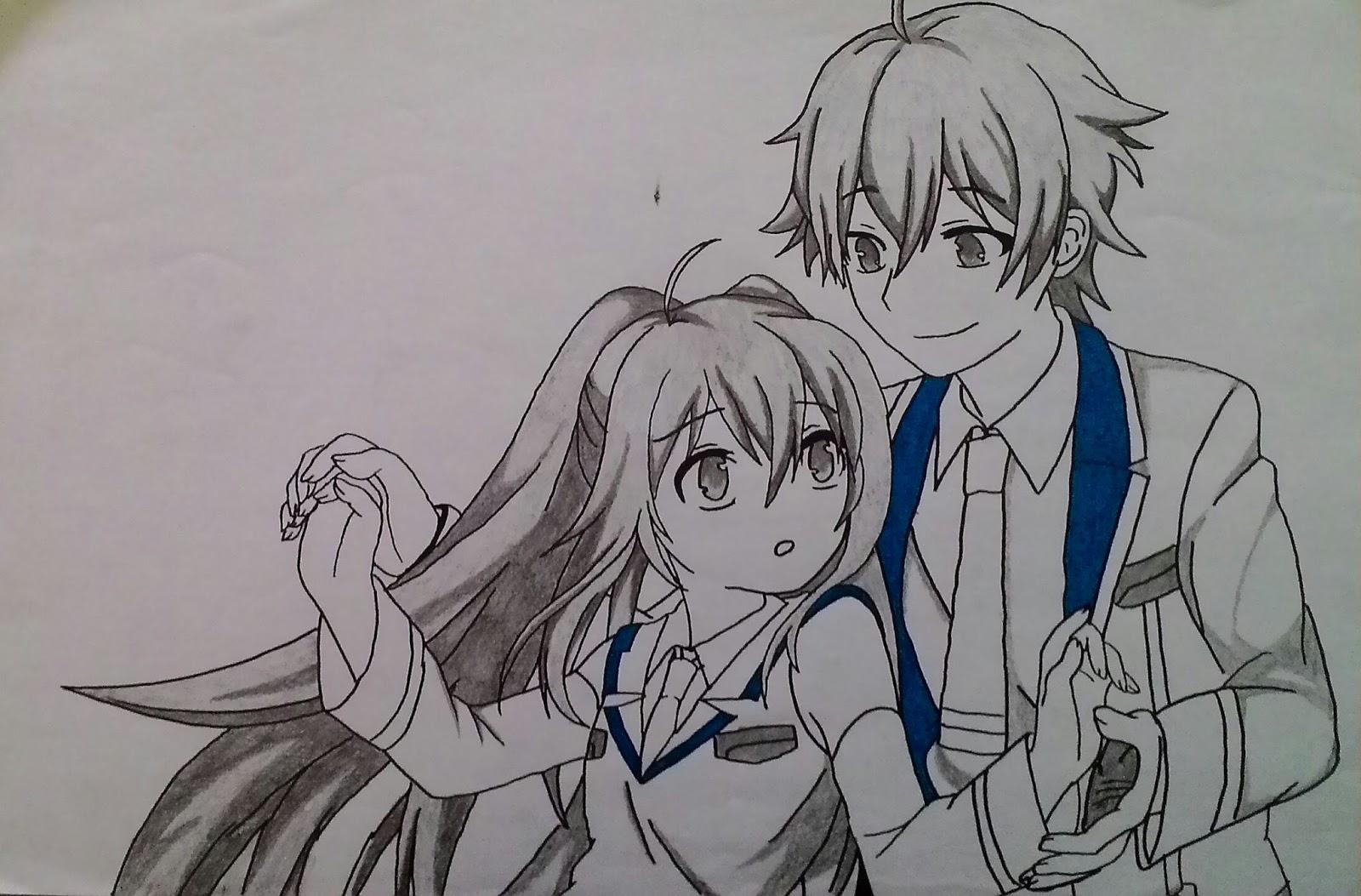 Download Gambar Sketsa Anime Keren