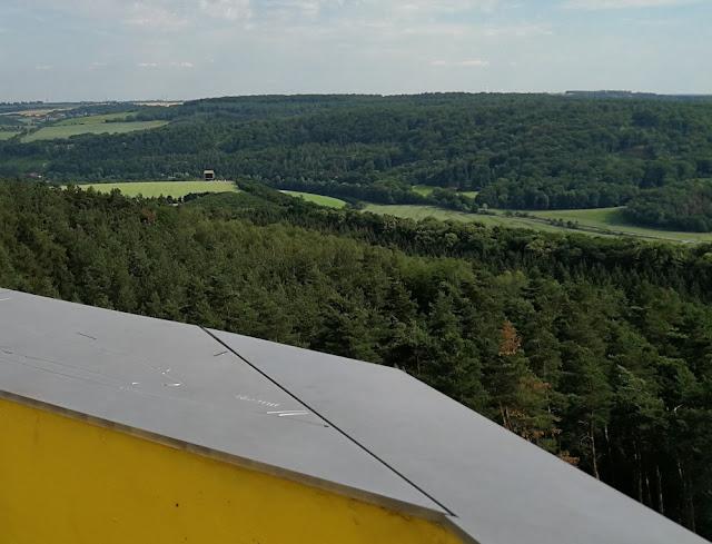 Ausblick vom Aussichtsturm am Fundort der Himmelsscheibe, Nebra