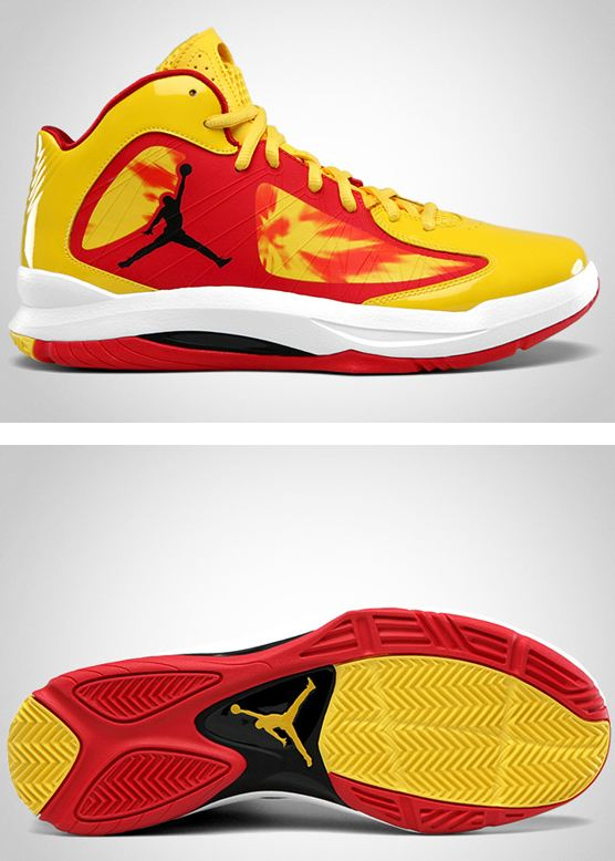 """98f56561e6f Here is a look at the Jordan Aero Flight """"Hulk Hogan"""" Sneaker available at  select retailers Finishline now"""
