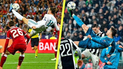 Wales International, Gareth bale expresses shok at controversial UEFA goal of the season snub.  The 29-year-old Real Madrid footballer said he wasn't bothered if his overhead kick in the Champions League final was better than Cristiano Ronaldo's - but can't believe it wasn't even nominated.
