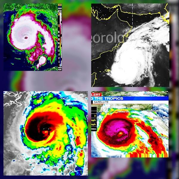 ( FOTOS ) Varios Ciclones Tocaran tierra.