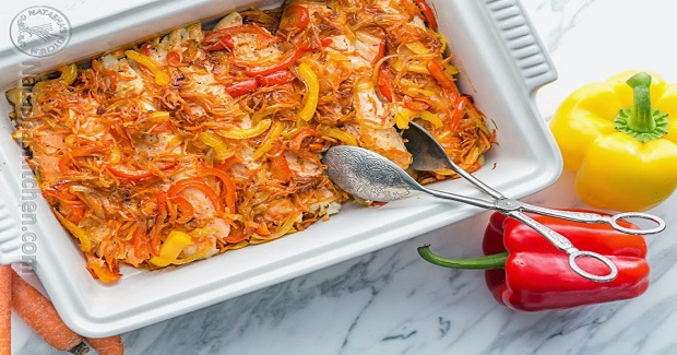 Baked Tilapia and Vegetable Casserole