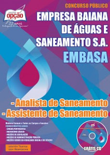Apostila do concurso da Embasa em 2017.