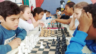 V Campeonato Municipal de Xadrez Escolar conta com cerca de 150 enxadristas