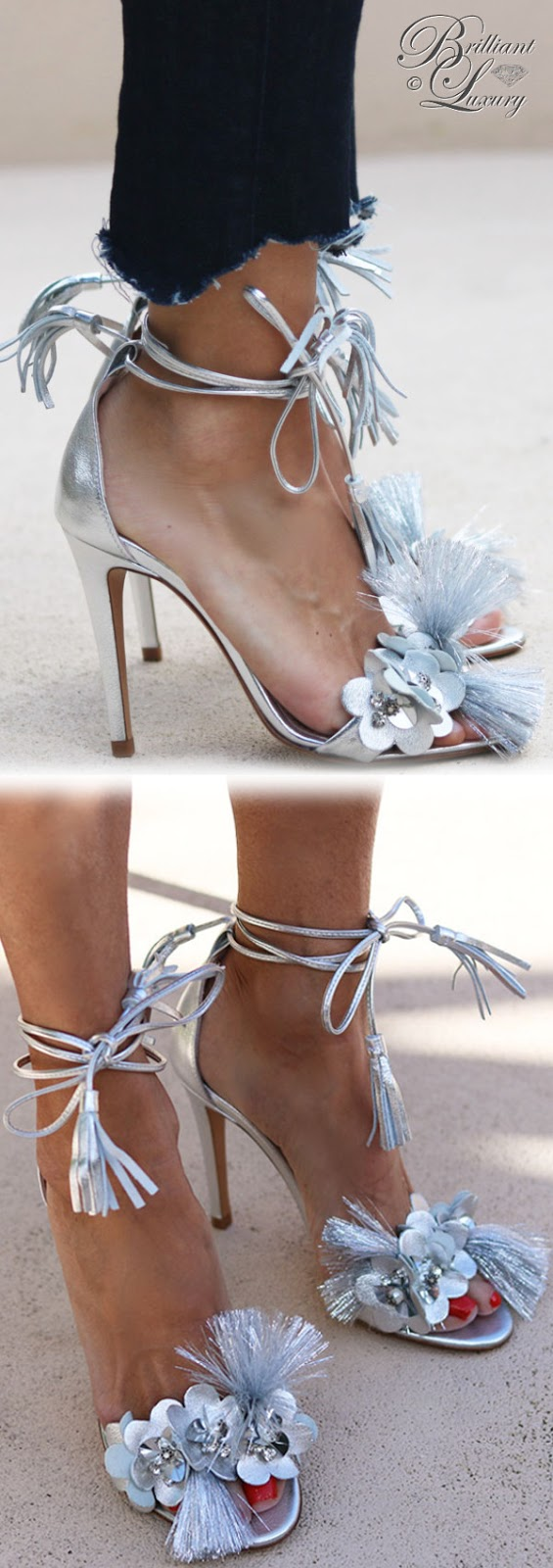 Brilliant Luxury ♦ Alameda Turquesa Lilac sandals silver