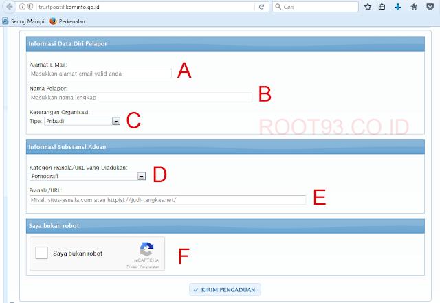 mengisi formulir terkait laporan
