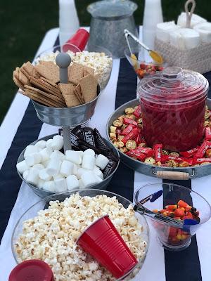 Outdoor movie night snacks and treats