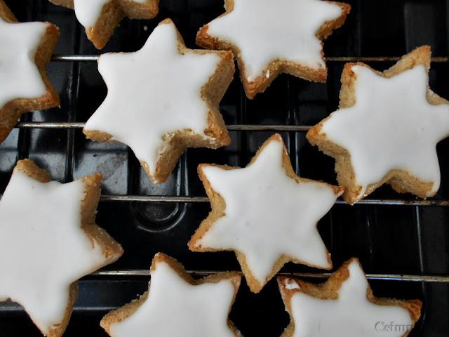 estrelas de amendoa e canela receita