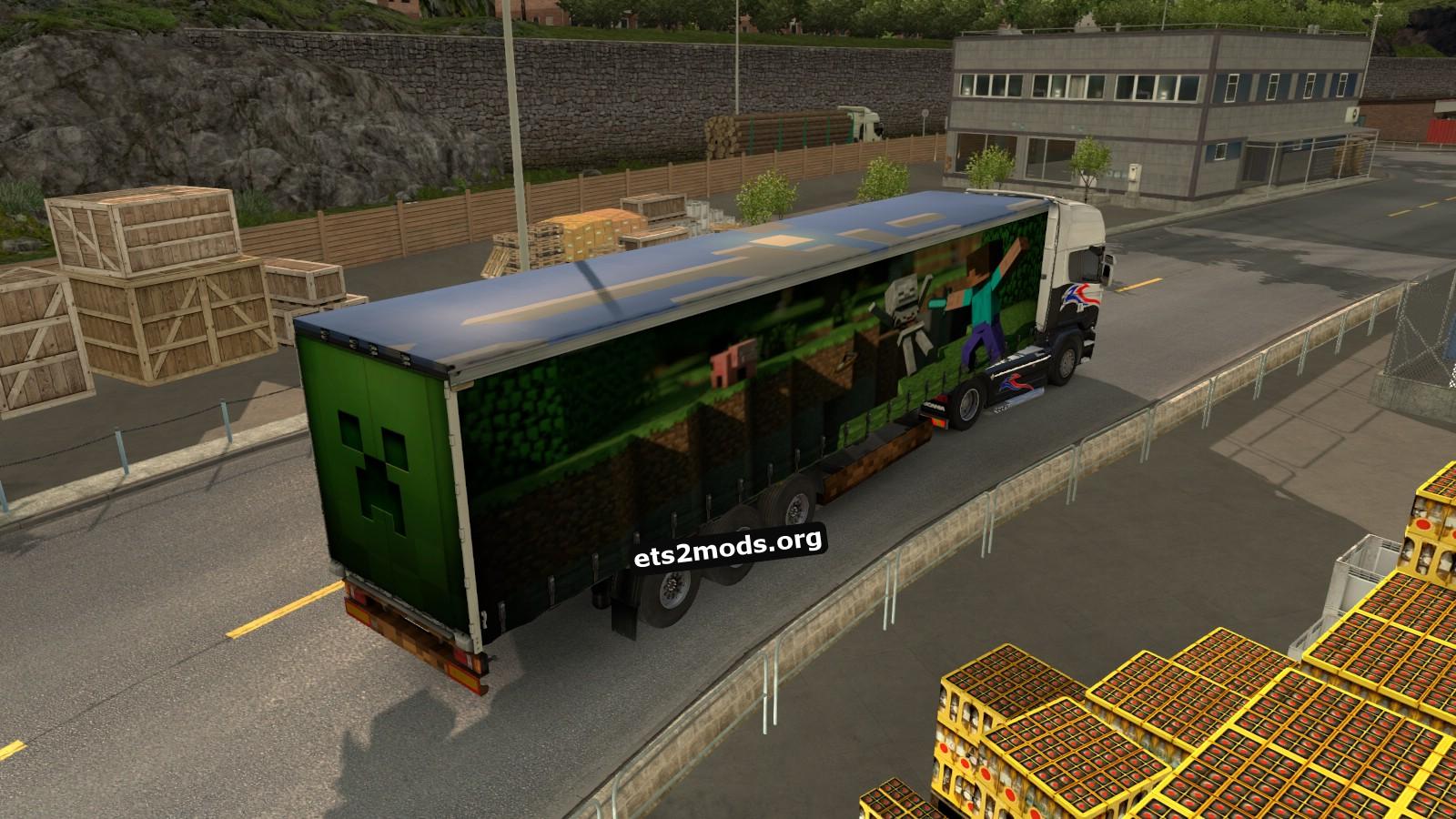 ETS2 Minecraft trailer mod