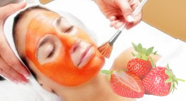 Masker Alami Strawberi