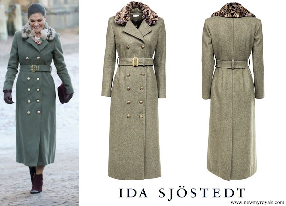 Crown Princess Victoria wore IDA SJOSTEDT double breasted coat