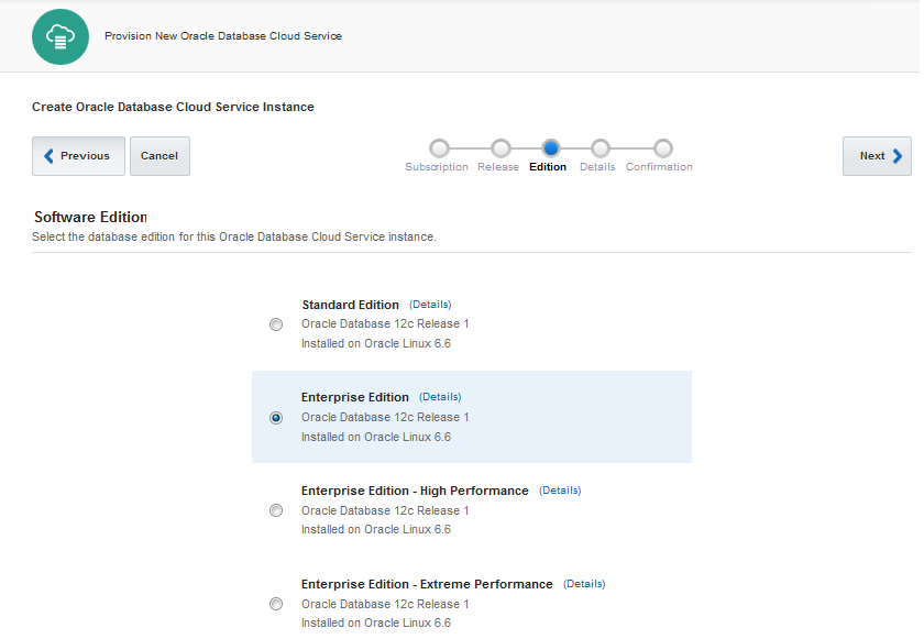 Oracle Database Cloud Service Edition