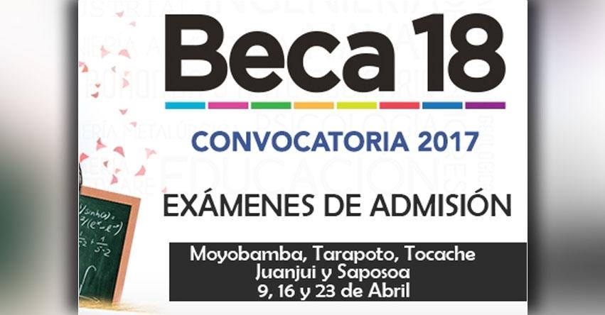 PRONABEC: Jóvenes de la región San Martín participarán en exámenes de admisión para postular a beca 18 - www.pronabec.gob.pe