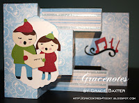 a-caroling we will go, tri-shutter card by Grace Baxter