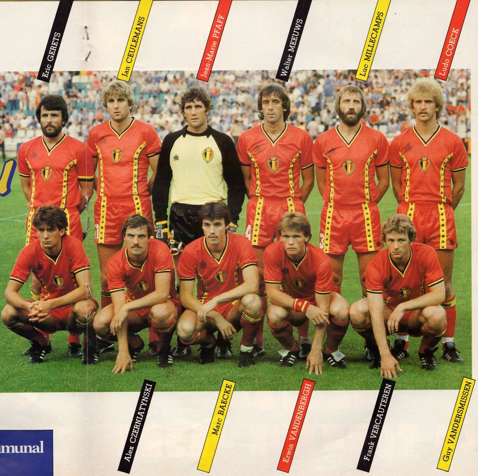 The compact squad overview with all players and data in the season overall statistics of current season. Soccer Nostalgia: Old team Photographs-Part 34f