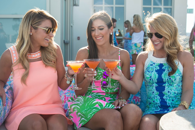 Girls in Lilly Pulitzer at Grand Bohemian Hotel