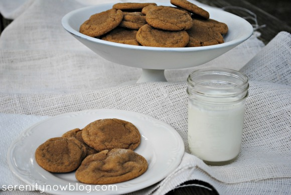Soft Ginger Cookie Recipe, from Serenity Now