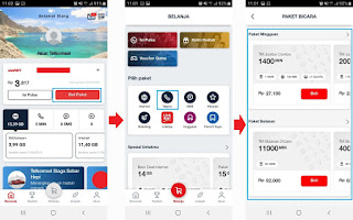 cara beli paket nelpon telkomsel lewat aplikasi