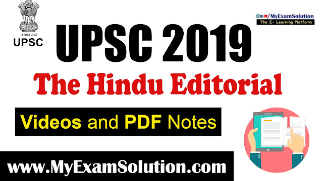 the hindu editorial, study lover veer, myexamsolution, upsc online free notes, ias book material