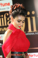 Apoorva in a Stunning Tight Leg Split Sleeveless Red Gown at IIFA Utsavam Awards 17.JPG