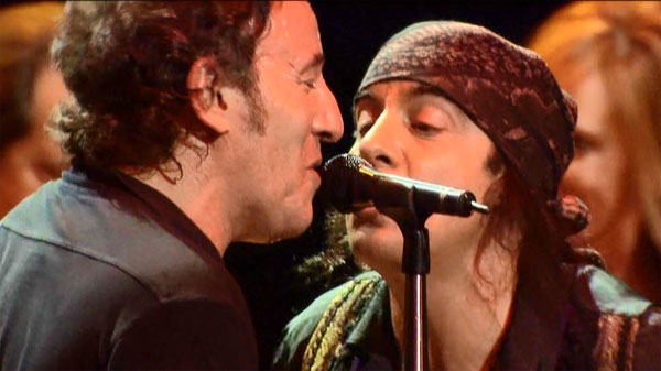 "Bruce Springsteen and Steven Van Zandt sing ""Two Hearts"""