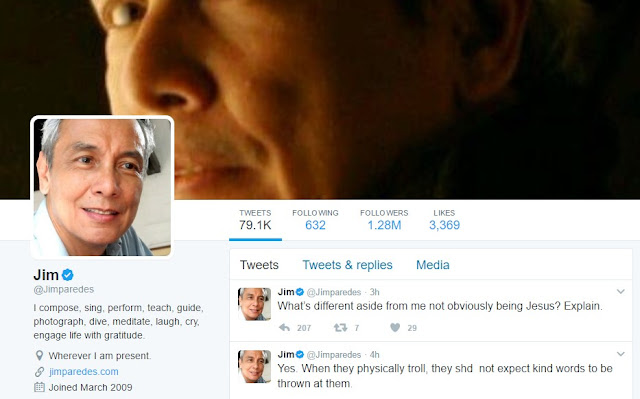 Trending Jim Paredes Scandal: Jim Paredes: Their Presence Was Harrasment. They