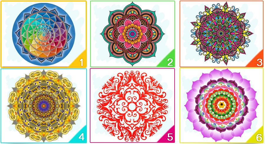 Test de los mandalas de colores