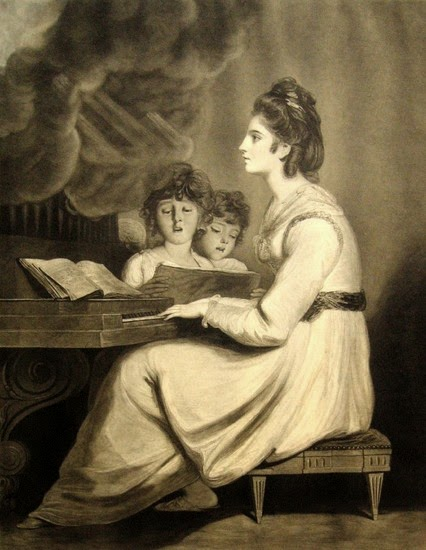Elizabeth Sheridan as St Cecilia  Print by W Dickinson after Sir Joshua Reynolds (1776)  © British Museum