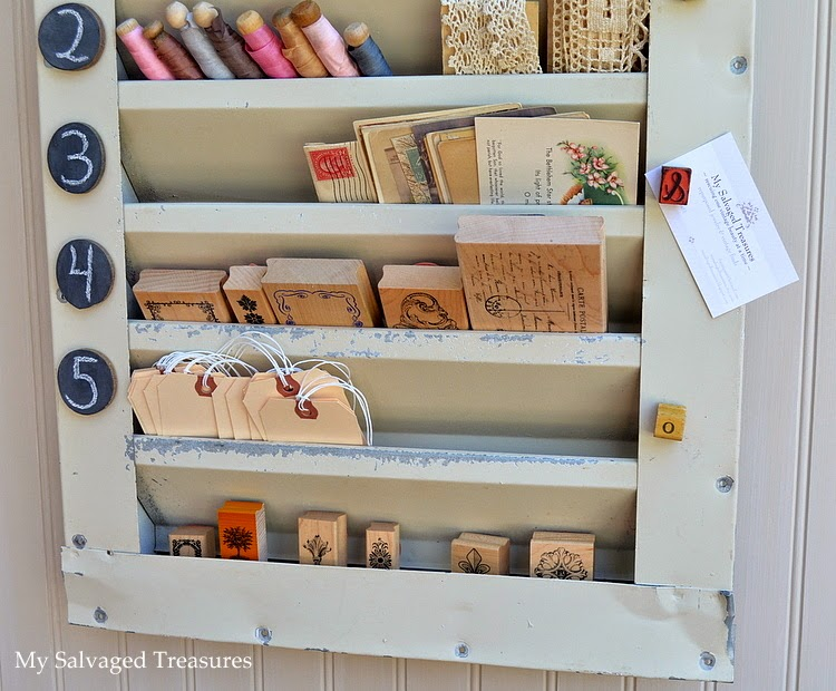 use an old attic vent cover for storing little treasures