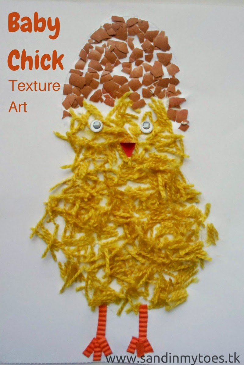 Baby Chick Texture Art