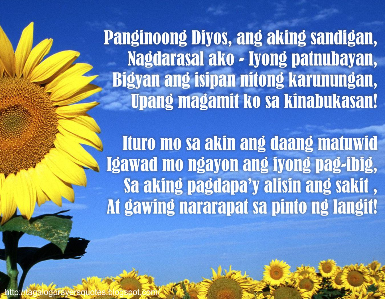 Tagalog Prayers and Christian Quotes: Tagalog Prayers for