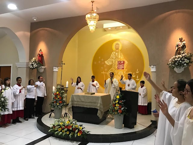 Com acolhida da imagem de Nossa Senhora de Fátima, Igreja de Santa Luzia encerra Semana Santa em Rafael Fernandes