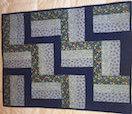 Blue Rail-Fence Precut Baby Quilt Kit