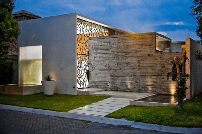 Hogares frescos moderno proyecto residencial con un for Casas residenciales minimalistas