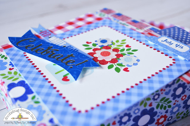 "4th of July treat buckets by Wendy Sue Anderson with the ""Yankee Doodle"" collection from Doodlebug Design Inc."
