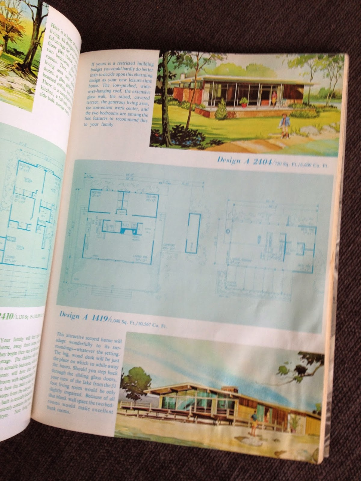 mid-century vacation home plan book pages