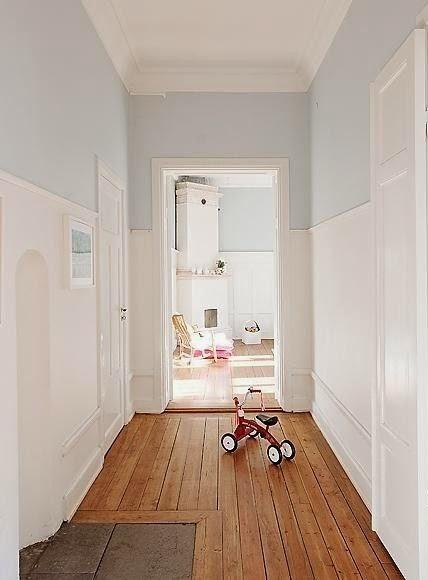 Colocar un friso en el pasillo de pintura