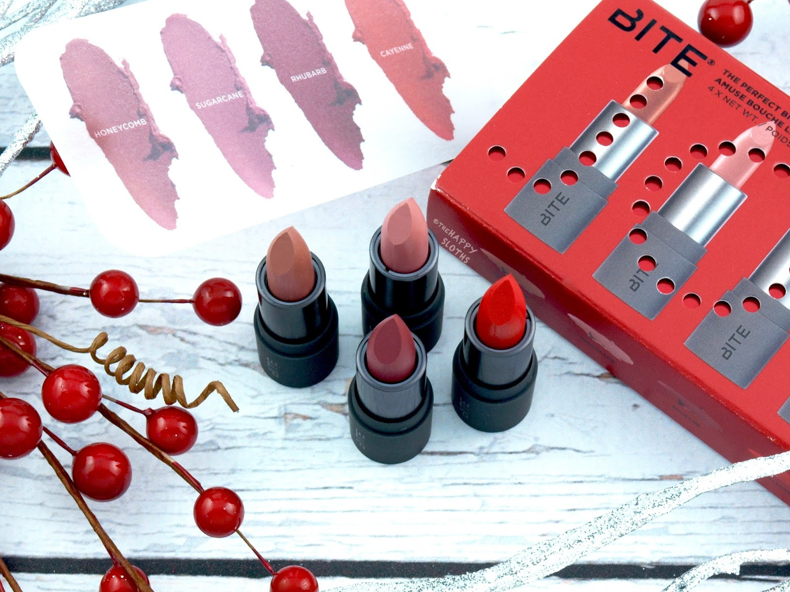 Bite Beauty Holiday 2017 | The Perfect Bite Amuse Bouche Lipstick Set: Review and Swatches
